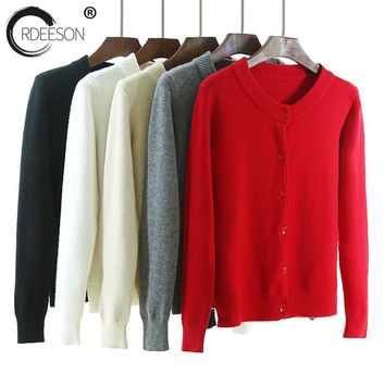ORDEESON 5 Color Thick Warm Cardigans Womens Sweaters 2017 Jumper Cardigan Feminino Christmas Sweater Nouvelles Solide Grande