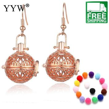 Round Textural Aromatherapy Essential Oils Diffuser Earrings