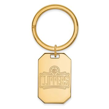 NBA 14k Yellow Gold Plated Silver Los Angeles Clippers Key Chain