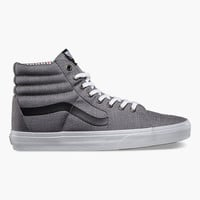 Vans Suiting/Stripes Sk8-Hi Mens Shoes Charcoal/True White  In Sizes