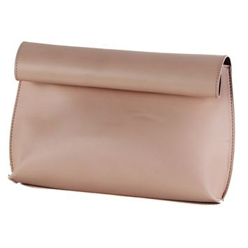 VIDA Leather Statement Clutch - Raggedy by VIDA N1DAaFALM