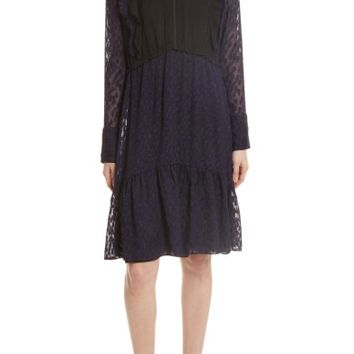 3.1 Phillip Lim Fil Coupé Silk Blend Dress | Nordstrom
