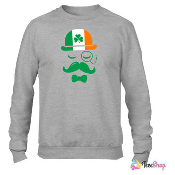 i love ireland irish shamrock St. Patrick's Day Crewneck sweatshirtt