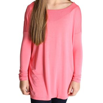 Pink Piko Kids Long Sleeve Top