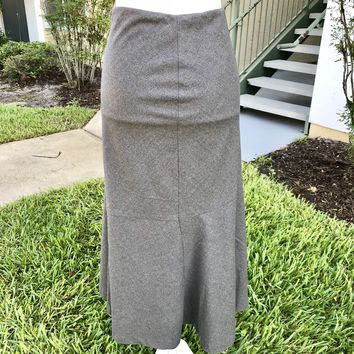 RALPH LAUREN Women's Gray Wool Skirt, Size 10