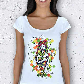 Black Friday Geometric Queen Women Wide Collar T-Shirt / Special Production (Limited Edition)