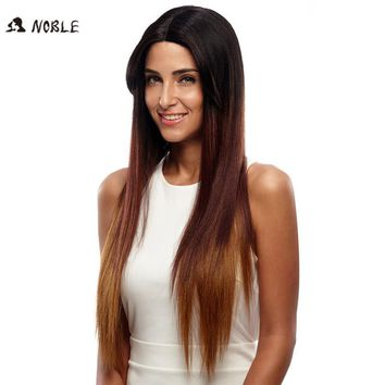 """Noble Wigs For Black Women Straight New Lace Front Wig Synthetic Hair 30"""" Ombre Color Heat Resistant Cosplay Wig Free Shipping"""