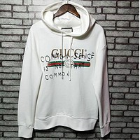 GUCCI Fashion Women Men Print Long Sleeve Top Sweater Hoodie Sweatshirt White I