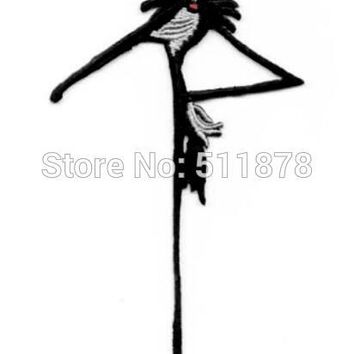 "5"" Nightmare Before Christmas Jack Skellington patch Movie TV Embroidered Emblem sew iron on applique Halloween costume cosplay"