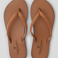AEO Leather Flip Flop , Cognac