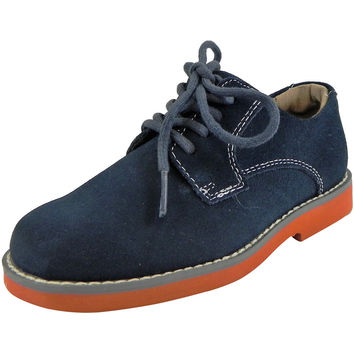 Florsheim Boy's Kearny Suede Classic Lace Up Oxford Shoes Navy