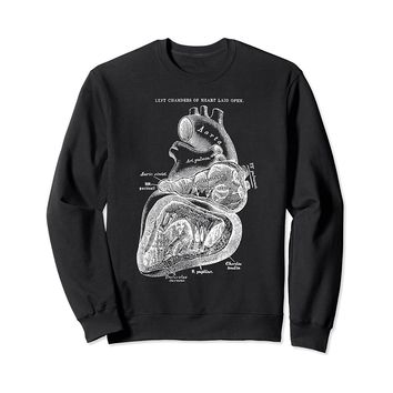 Left Chamber of the Human Heart Sweatshirt