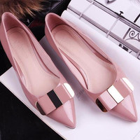 Elegant Flat Bow Shoes