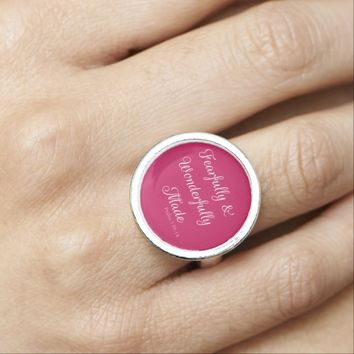Psalm 139 Pink Fearfully Wonderfully Made Ring