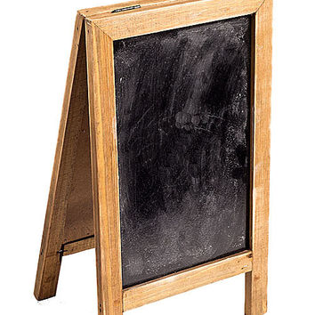 Two Sided Free Standing Wood Frame Chalkboard for Counter - 12-1/2-in Brown