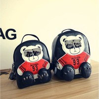 Cool Bear Wear Sunglasses Children Backpack For Teenagers Girls Fashion Collage School Bags Kid Bag Woman Backpack