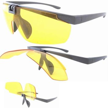V06 Patent Polarized Lens Flip up Sunglasses For Day And Night Time W/pouch
