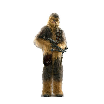 Chewbacca Force Awakens Cardboard Standup