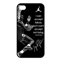 2013 New NBA Chicago Bulls Player 23 MJ Michael Jordan Unique Design Iphone 4 4s TPU Case Cover Protector Best Show