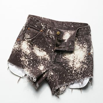 Free People Vintage 1980s Bleached Corduroy Shorts