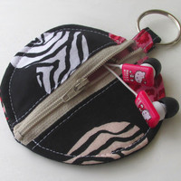 Animal Print Earbud Pouch , Valentine's Day Coin Purse , Hearts , Leopard Print , Zebra , Earphone Holder , Ear Bud Case , Exentricity