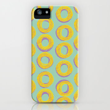 $6 off SALE - Donuts - Hemlock iPhone 4, 4s, 5, 5s, 5c & Samsung Galaxy s3, s4 and iPod Case by alterEGO mint green