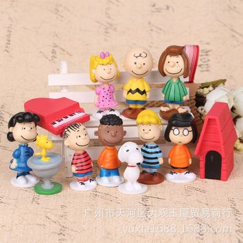Peanuts Gang Figurine 12pcs/set