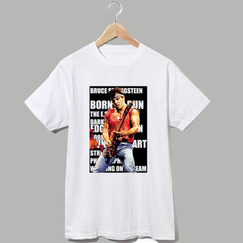 bruce springsteen concert digital printing men women summer t shirt