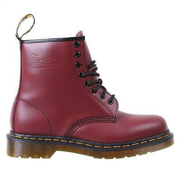 Dr Martens Mens Boots 1460 Cherry Red Smooth Leather 11822600