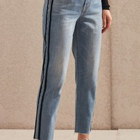 PacSun Sport Blue Vintage Icon Straight Leg Jeans at PacSun.com - medium indigo | PacSun