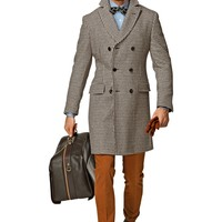 Brown Double Breasted Coat J280i | Suitsupply Online Store