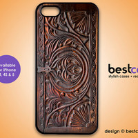 iphone 5 Case - Carved Wood Print iphone Case, Iphone 5 cover