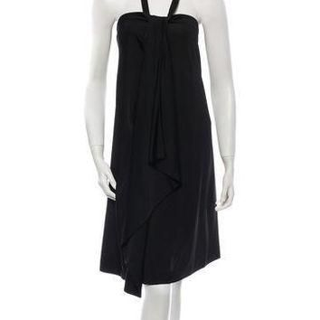 balenciaga halter dress 2