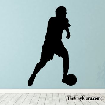 Soccer Wall Decal - Man Futbol Player Sticker #00021