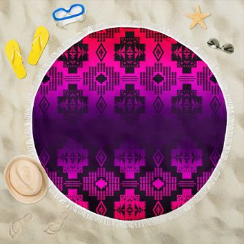 Twilight Battle Pink Beach Blanket