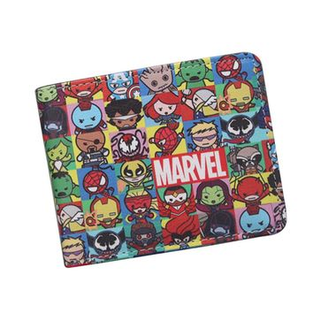 New Personalized Avengers Wallets Bi-Fold DC Captain America Wallet Alliance Cartoon Comics Wallet For Teenager Boys Girls Gift