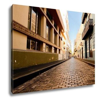 Gallery Wrapped Canvas, Alley The Old City San Juan Puerto Rico
