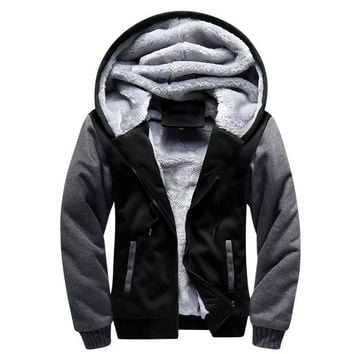Men Winter Fashion Bomber / Men Vintage Thick Fleece Jacket