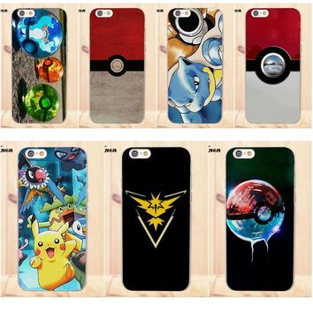 Coque Shell Phone Case Pokemons Guide Eevee Pokeball For Apple iPhone 4 4S 5 5C SE 6 6S 7 8 Plus X For LG G4 G5 G6 K4 K7 K8 K10