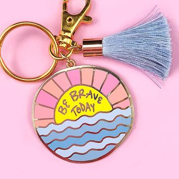 Be Brave Keychain