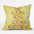 Happee Monkee You Are My Sunshine Throw Pillow