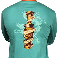 SPC Signature Long Sleeve Duck Call Tee in Light Green by Southern Point Co.