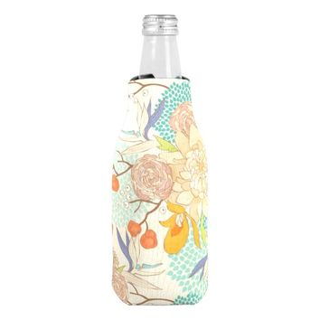 Modern Rose Peony Flower Pattern Bottle Cooler