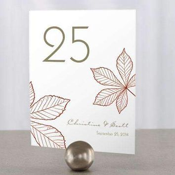 Autumn Leaf Table Number Numbers 1-12 Ruby (Pack of 12)