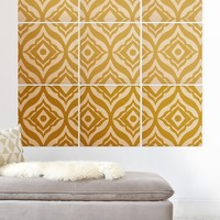 Heather Dutton Trevino Yellow Wood Wall Mural