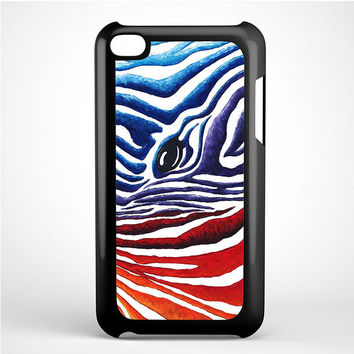 Zebra Two Tone Color iPod Touch 4 Case