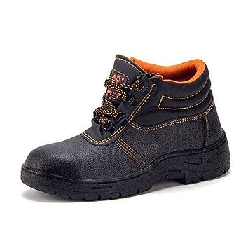Men's Heavy Duty Waterproof Steel Toe Ankle High Safety Forklift Construction Boots