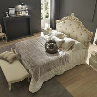 Double bed with tufted headboard TOPAZIO Bludi Betty Collection by Bolzan Letti