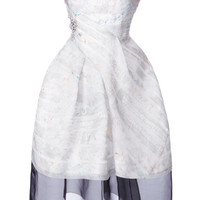 J. Mendel Resort Strapless Organza Dress