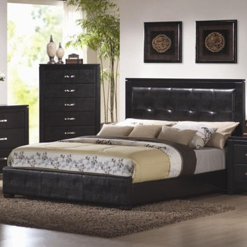 Dylan King Faux Leather Upholstered Low Profile Bed
